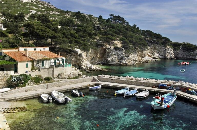 Marsiglia, porticciolo nei Calanques - Foto © Objectif Images OTC Marseille