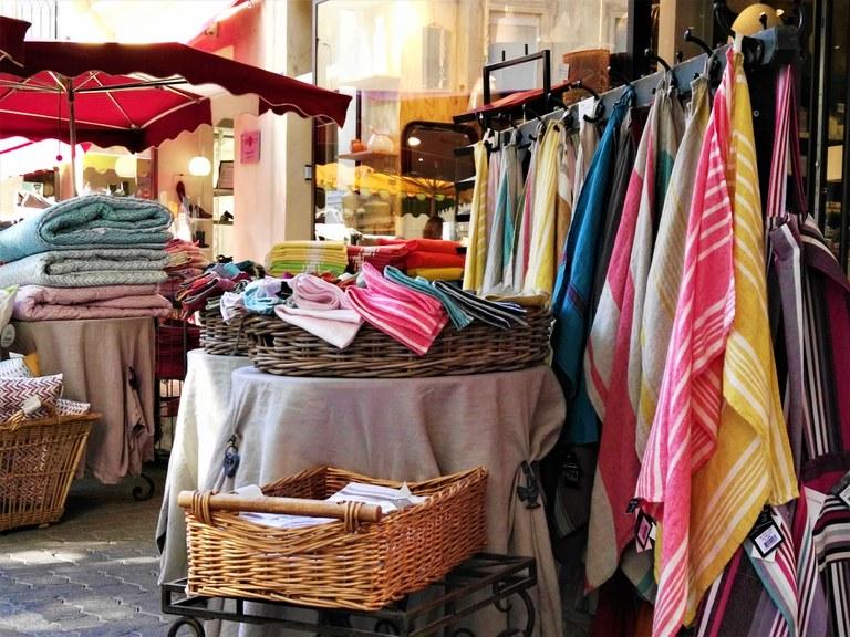 Mercato provenzale - I tessuti