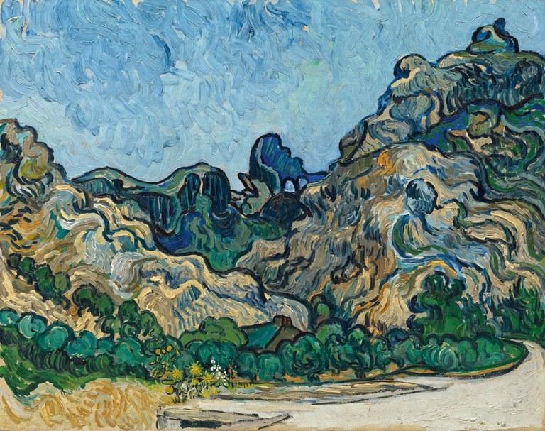 Montagnes à Saint-Rémy,  Vincent van Gogh, Solomon R. Guggenheim Museum, New York