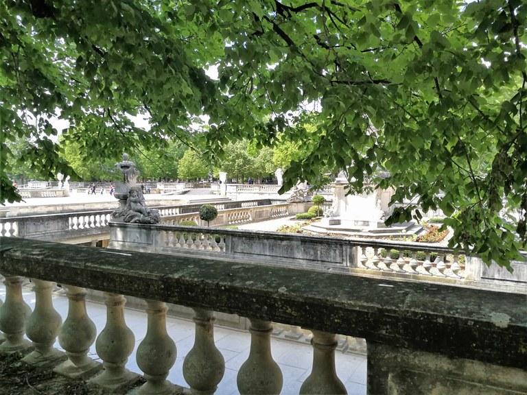Nîmes, i giardini della fontana