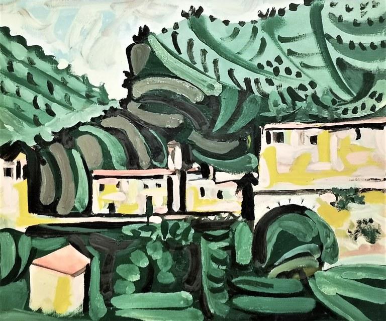Pablo Picasso, Le village de Vauvenargues