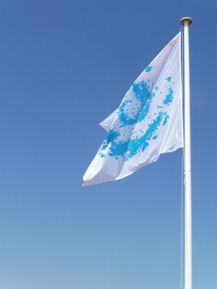 Parco Nazionale di Port-Cros, la bandiera con il simbolo del parco
