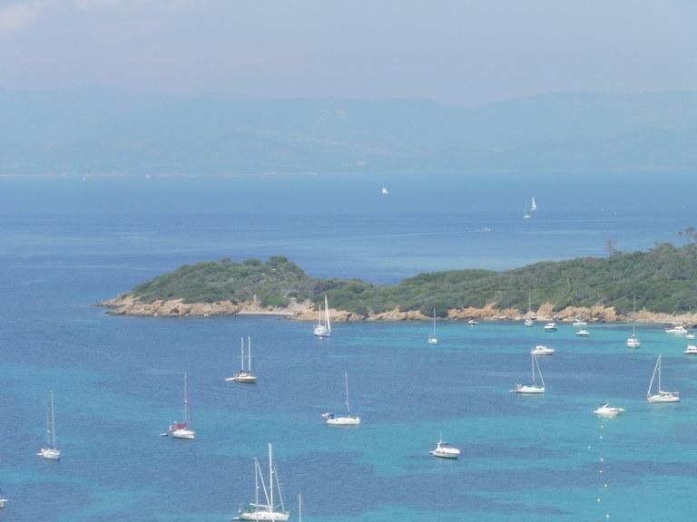 Parco Nazionale di Port-Cros, sentieri marini lungo la costa di Porquerolles