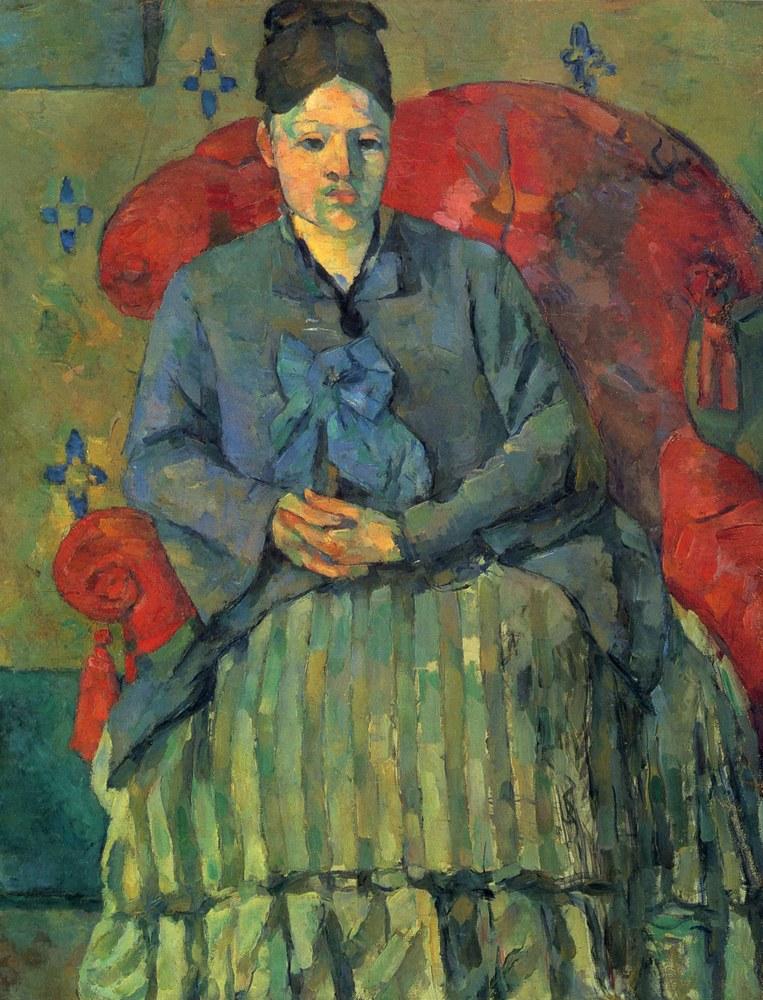Paul Cezanne, ritratto della moglie e modella Hortense