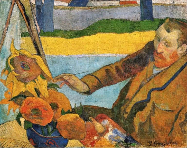 Paul Gauguin, Van Gogh mentre dipinge girasoli, 1888, olio su tela, Van Gogh Museum, Amsterdam