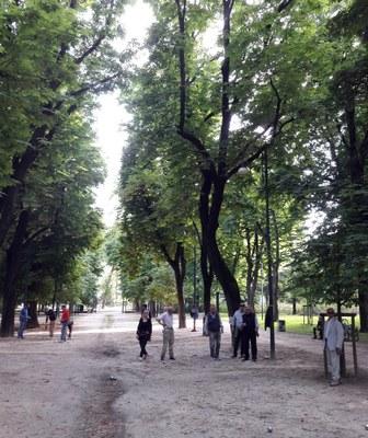 Campo di pétanque al Parco Sempione. Foto  © MilanoPetanque