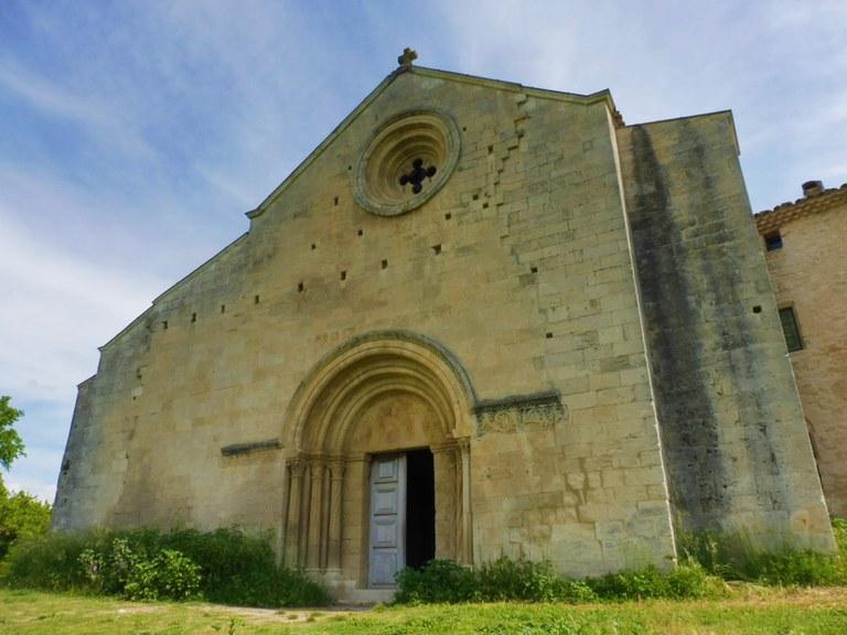 Priorato di Salagon, la facciata della chiesa