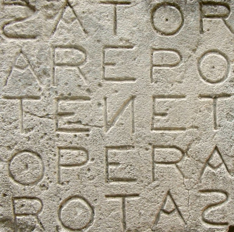 Quadrato Sator di Oppède-le-Vieux