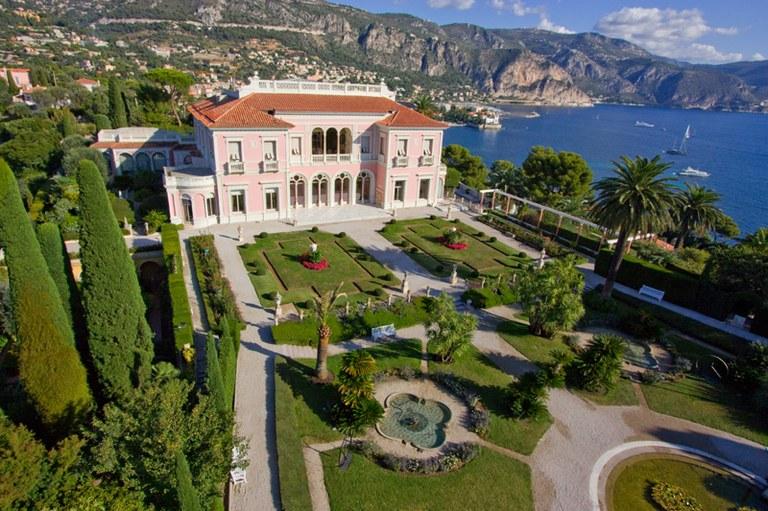 Saint Jean Cap Ferrat, Villa Ephrussi e i giardini dall'alto © OTM Nice Côte d'Azur