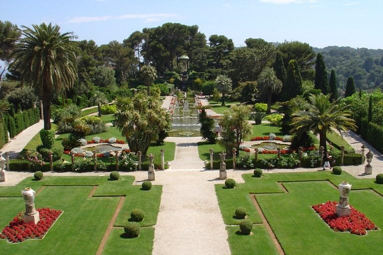 Saint Jean Cap Ferrat, Villa Ephrussi, giardino  alla francese © OTM Nice Côte d'Azur