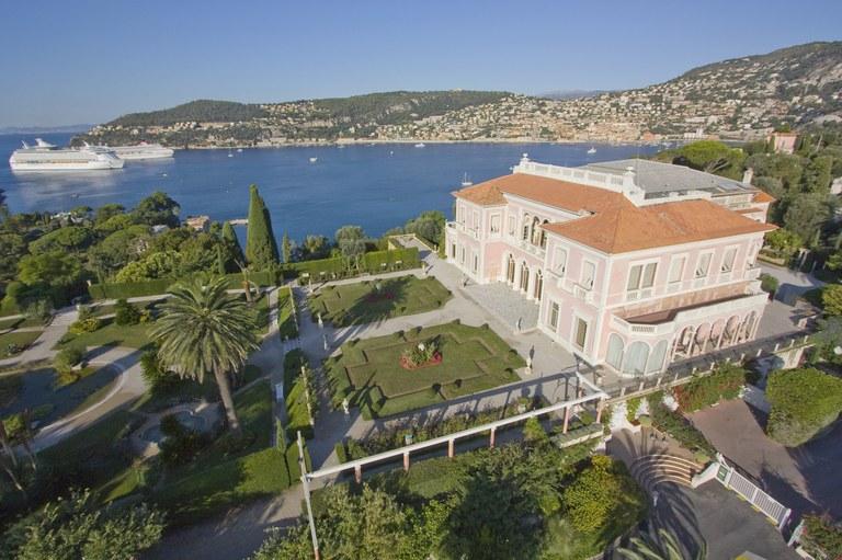 Saint Jean Cap Ferrat, Villa Ephrussi vista dal cielo © OTM Nice Côte d'Azur