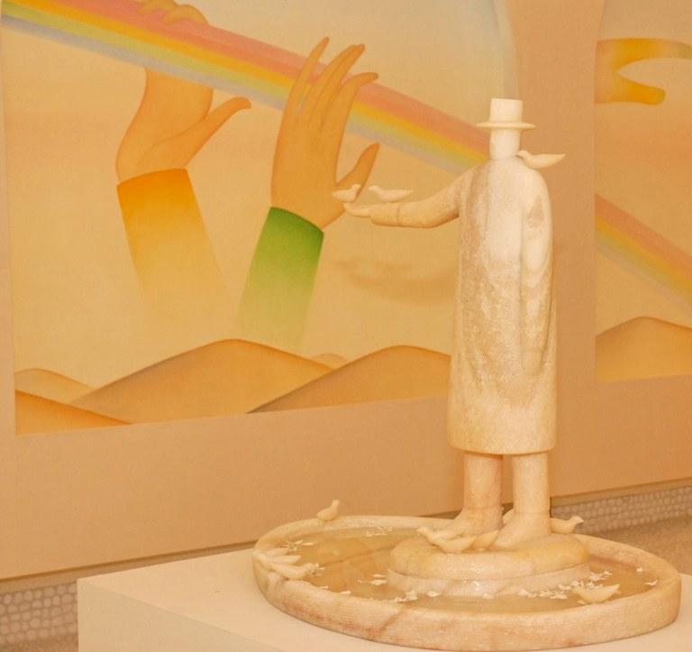 Saint-Paul de Vence, scultura La Source di Michel Folon © Office de Tourisme de Saint-Paul de Vence - Photographe Eric Zaragoza