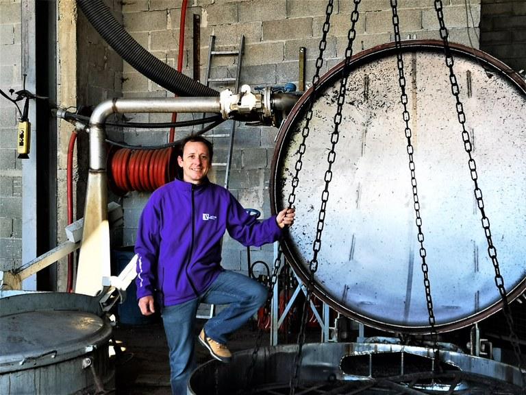 Sault, Aroma'Plantes, Laurent Tourenc allo stoccaggio della lavanda