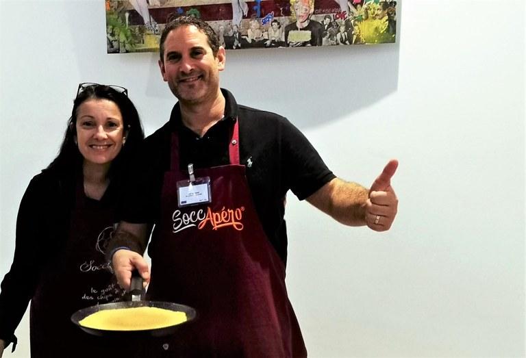 Show cooking di Christine e Luc Salsedo, la socca nizzarda