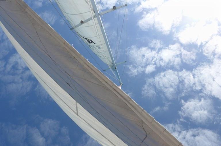 Sotto le vele del catamarano