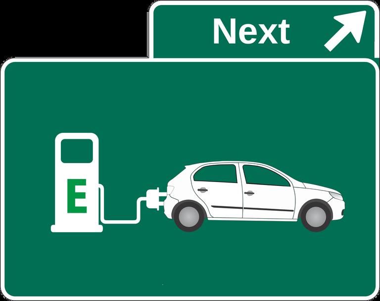 Stazione di ricarica per veicoli elettrici, segnaletica