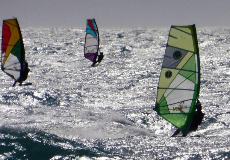 Surfisti tra le onde di Carro
