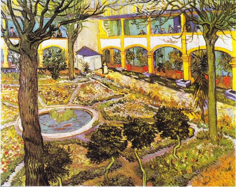 Vincent Van Gogh, le jardin de la maison de santé