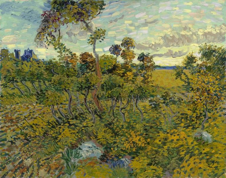 Vincent Van Gogh, Tramonto a Montmajour