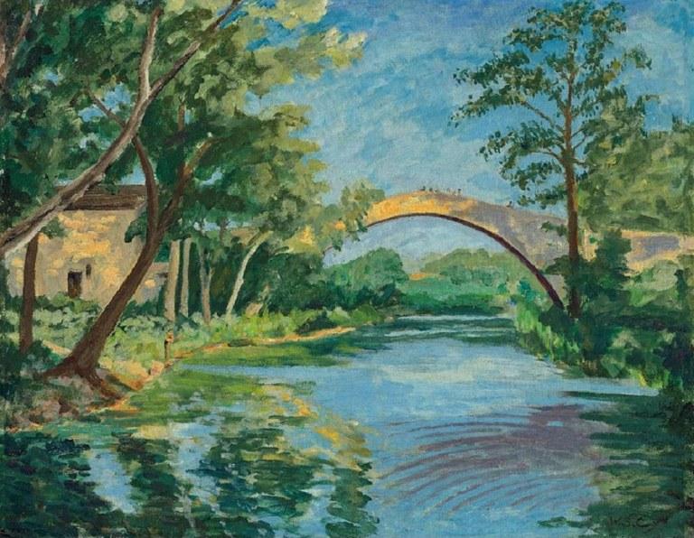 Winston Churchill, The Bridge at Aix en Provence, courtesy of Christie's