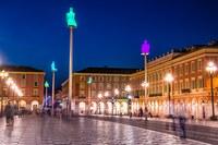 Piazza Massena a Nizza vista notturna  - Foto: © OTC Nice