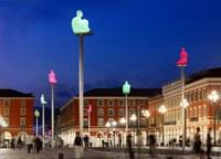 Piazza Massena illuminata a Nizza - Foto: © OTC Nice